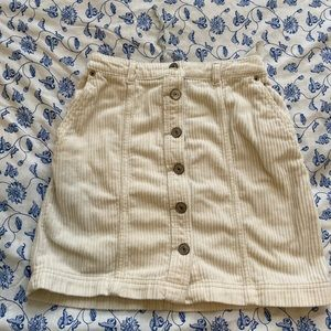 Abercrombie and Fitch Corduroy Mini Skirt